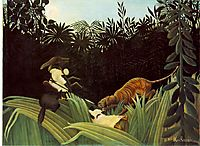 Scout Attacked by a Tiger, 1904, rousseau