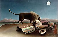 The Sleeping Gypsy, 1897, rousseau