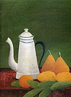 Still life with teapot and fruit, rousseau