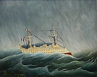 The storm tossed vessel, c.1899, rousseau