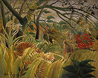 Surprise ! Or Tiger in a Tropical Storm, 1891, rousseau