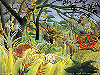 Tiger in a Tropical Storm (Surprised!) , 1891, rousseau