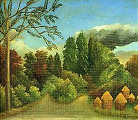 View of the Banks of the Oise, 1906, rousseau