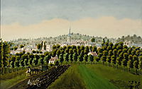 View of Bottom and MeudonBillancourt, 1890, rousseau