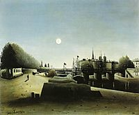 View of the Ile Saint-Louis seen from the Port Saint-Nicolas. , 1888, rousseau
