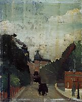 View of the Palais du Metropolitan, 1909, rousseau