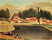 Village near a Factory, 1908, rousseau