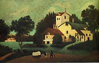 Wagon in Front of the Mill, 1879, rousseau