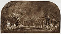 The avenue of chestnut trees, 1837, rousseautheodore