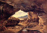 The Cave in a Cliff near Granville, c.1833, rousseautheodore