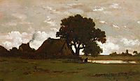Cottages near pond, rousseautheodore