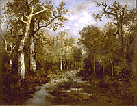 The Forest of Fontainebleau, 1867, rousseautheodore