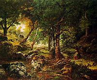 Forest landscape Sun, rousseautheodore