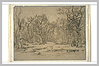 The Forest in Winter, rousseautheodore