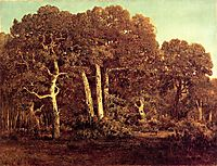 The Great Oaks of Old Bas-Breau, 1864, rousseautheodore