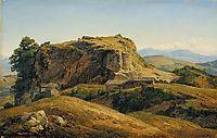 Hilly landscape, Auvergne, c.1830, rousseautheodore