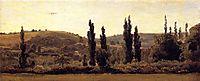 Landscape with poplars, c.1833, rousseautheodore