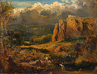 Malhec rocks in the Valley of Saint-Vincent, c.1830, rousseautheodore