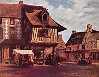 Market in the Normandy, c.1848, rousseautheodore