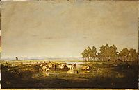 Marshland in Les Landes, c.1853, rousseautheodore