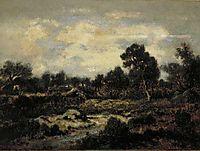 MountainlandscapenearFontainebleau, c.1852, rousseautheodore