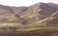 Mountainous landscape in Cantal, 1830, rousseautheodore