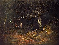 The Oak in the Rocks, 1860, rousseautheodore
