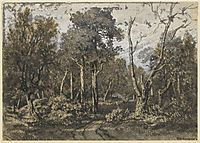 The oak tree crashed into the forest of Fontainebleau, rousseautheodore