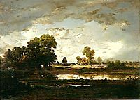 The pond, stormy sky, rousseautheodore
