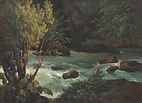 Stream in Auvergne near Royat, 1830, rousseautheodore