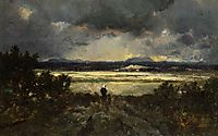 Sunset in the Auvergne, c.1844, rousseautheodore