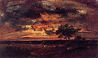 Twilight Landscape, 1850, rousseautheodore
