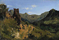 Valley in the Auvergne Mountains, 1830, rousseautheodore