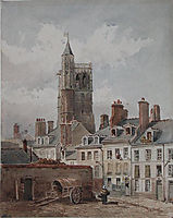 View of the belfry of Orleans, 1852, rousseautheodore