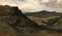 View of mountains, Auvergne, c.1830, rousseautheodore