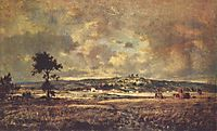 View of the plain of Montmartre X effect of storm, rousseautheodore