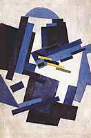 Abstract Composition, c.1910, rozanova