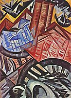 The factory and the bridge, 1913, rozanova