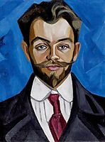 The Portrait of A.Rozanov, 1912, rozanova
