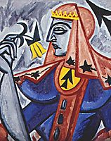 Queen of spades , c.1915, rozanova