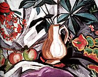 Still Life with Peatcher and Apples, 1910, rozanova