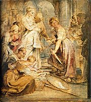Achilles and the Daughters of Lykomedes, c.1617, rubens