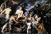 Allegory on the blessings of peace, 1629-30, rubens