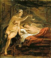 Amor and Psyche, rubens