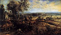 An autumn landscape with a view of Het Steen, 1635, rubens
