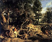 Boar Hunt, 1615-20, rubens