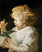 Boy with a bird, 1616, rubens