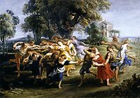 Dance of the Italian villagers, 1636, rubens
