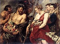 Diana back hunting, 1615, rubens