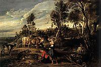 Farm at Laeken, 1618, rubens